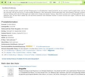 Schweig still bei Amazon auf Platz 1 und 2 in verschiedenenTanz-Kategorien