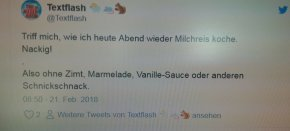 Twitter-Triff-mich-Tag, die 1.:Milchreis!