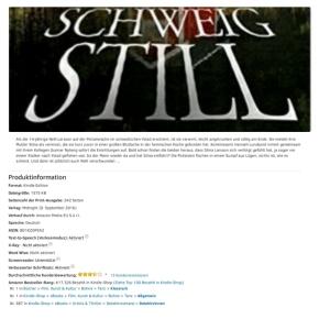 😍 SCHWEIG STILL belegt in gleich zwei Amazon-Kategorien die erstenPlätze!