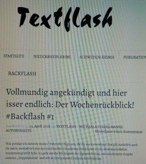 Vollmundig angekündigt und hier isser endlich: Der Wochenrückblick! #Backflash#1